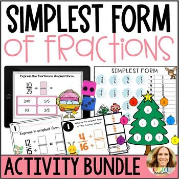Simplifying Fractions Bundle