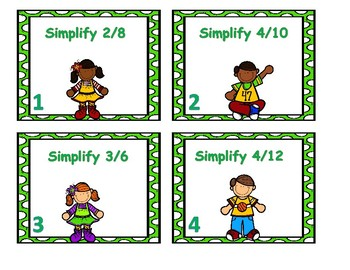 Simplifying Fractions Center