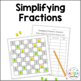 Simplifying Fractions Checkers Game