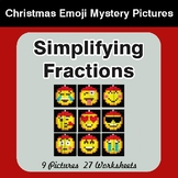 Simplifying Fractions - Color-By-Number Christmas Math Mystery Pictures