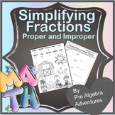 Simplifying Fractions Activity {Simplifying Fractions Game} {Fraction review}