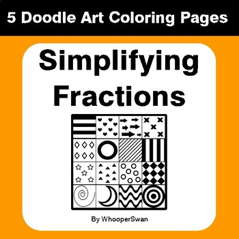 Simplifying Fractions - Coloring Pages | Doodle Art Math