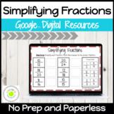 Simplifying Fractions Digital Activities