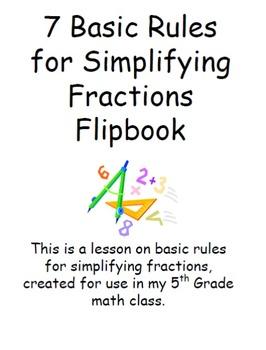 Simplifying Fractions Flipbook
