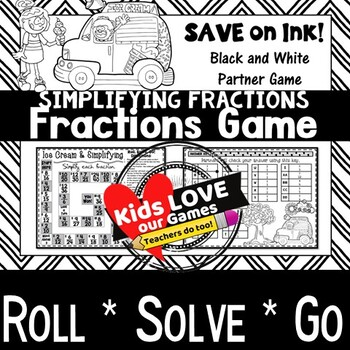 Simplifying Fractions Game: 5th Grade Fractions Math Game