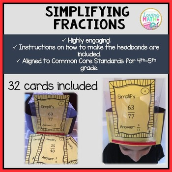 Simplifying Fractions - Headbands Game