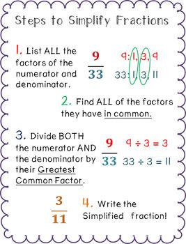 Simplifying Fractions Improper Fractions
