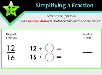 Fractions: Simplifying Fractions, Improper Fractions, & Mixed Numbers