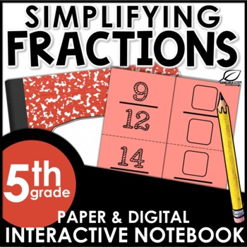 Simplifying Fractions Interactive Notebook Set