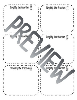 Simplifying Fractions Interactive Notes