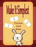 """Simplifying Fractions """"Make It Simplest"""" Game"""