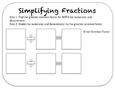 Simplifying Fractions Mat