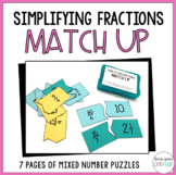 Simplifying Fractions Match-Up