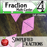 Simplifying Fractions Math Center Activity