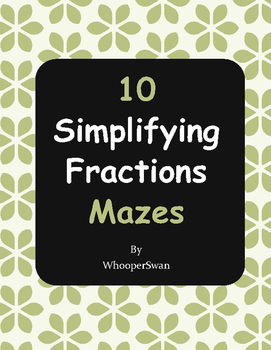 Simplifying Fractions Maze