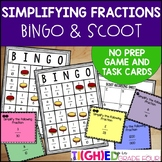 Simplifying Fractions {NO PREP Fraction BINGO Game and SCO
