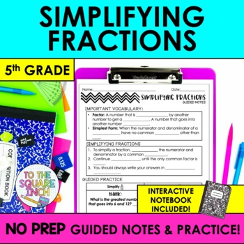 Simplifying Fractions Notes
