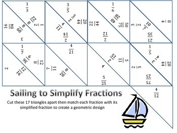 simplifying fractions puzzle by volunteacher  teachers pay teachers