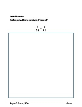 Simplifying Fractions SOL 4.5 Create your OWN