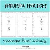 Simplifying Fractions Scavenger Hunt