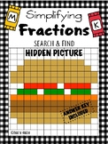 Simplifying Fractions Search and Find Hidden Picture