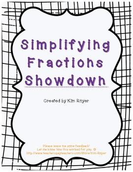 Simplifying Fractions Showdown