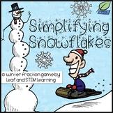 Simplifying Fractions Snowflake Matching Game {Winter FREEBIE}
