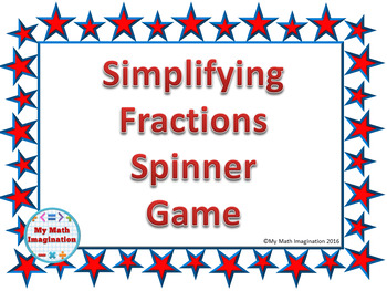 Simplifying Fractions Spinner Game