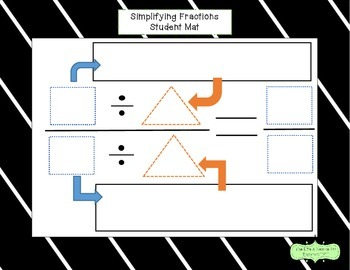 Simplifying Fractions Student Mat