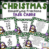 Christmas Simplifying Fractions Task Cards FREEBIE