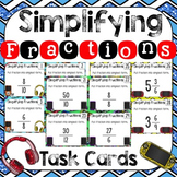 Simplifying Fractions Task Cards & Game