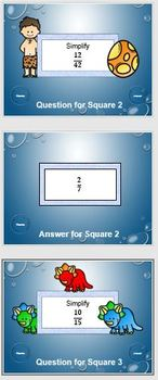 Simplifying Fractions Tic-Tac-Toe Computer Game