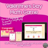 Simplifying Fractions Valentine's Themed