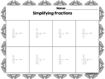 Simplifying Fractions | Venn Diagrams