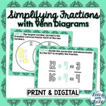Simplifying Fractions with Venn Diagrams
