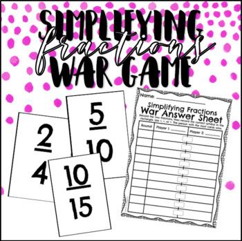Simplifying Fractions War Game