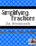 Simplifying Fractions Worksheets (6)