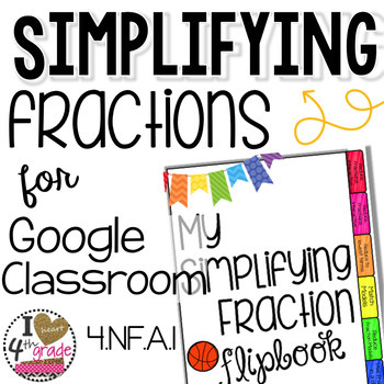 Simplifying Fractions for Google Classroom by I HEART 4th ...