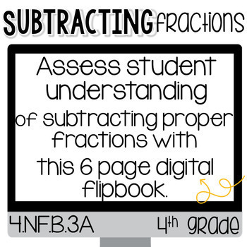 Subtracting Fractions for Google Classroom