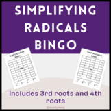 Simplifying Higher Index Radicals BINGO Activity