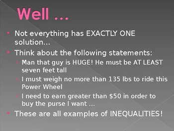Simplifying Inequalities Powerpoint