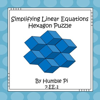 Simplifying Linear Equations Hexagon Puzzle-7.EE.1