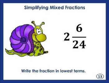 Simplifying Mixed Fractions Task Cards