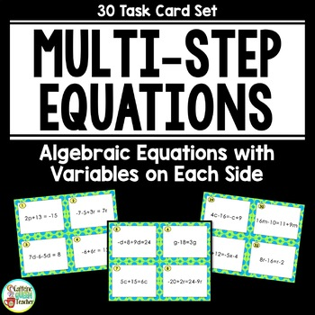 Multi-Step Equations Task Cards