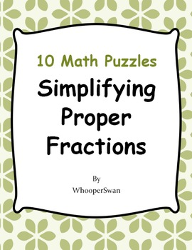 Simplifying Proper Fractions Puzzles