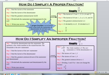 Simplifying Proper and Improper Fractions