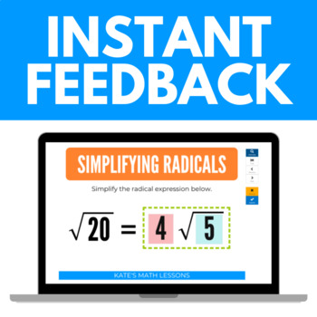 Simplifying Radical Expressions Boom Cards™