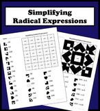 Simplifying Radical Expressions Color Worksheet