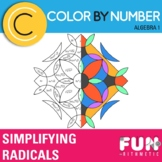 Simplifying Radical Expressions Color by Number