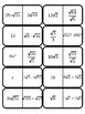 Simplifying Radical Expressions - Dominoes